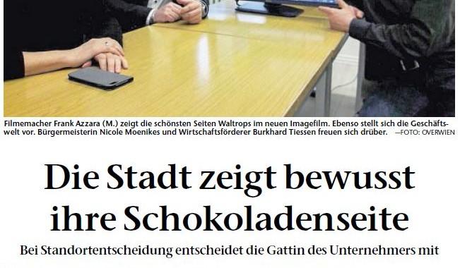 Pressebericht des Waltroper Stadtfilm